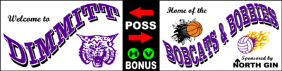 Varsity Scoring Tables | Freestanding & Bleacher Mount Standard or LED Scorer's Tables Dimmitt Bobcats F8