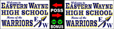 Varsity Scoring Tables | Freestanding & Bleacher Mount Standard or LED Scorer's Tables EASTERN WAYNE Warriors F8