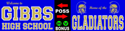 Varsity Scoring Tables | Freestanding & Bleacher Mount Standard or LED Scorer's Tables GIBBS GLADIATORS