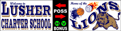 Varsity Scoring Tables | Freestanding & Bleacher Mount Standard or LED Scorer's Tables Lusher Lions