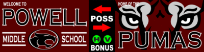 Varsity Scoring Tables | Freestanding & Bleacher Mount Standard or LED Scorer's Tables POWELL PUMAS