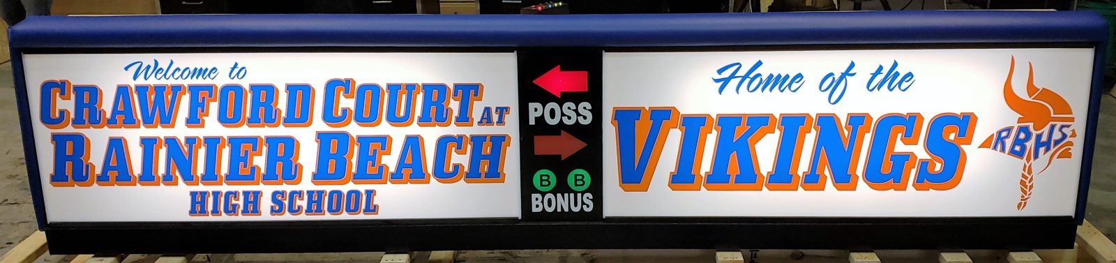 Rainier Beach JC Court Scorer's Table | Varsity Scoring Tables