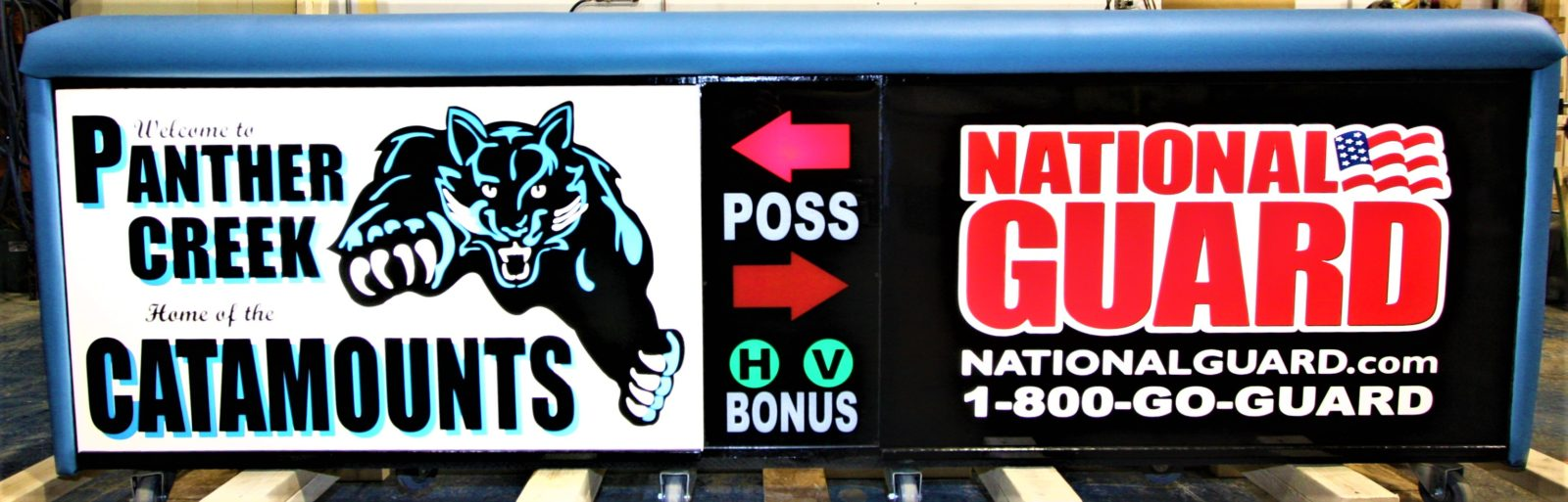 Panther Creek high school scoring table North Carolina Army National Guard NCARNG